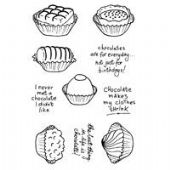 Woodware - Chocaholic - Clear Magic Stamp Set - JGCL536